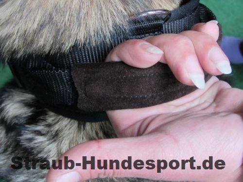 Hetzhalsband - Wildleder für richtigen Grip, auch wenn es nass ist