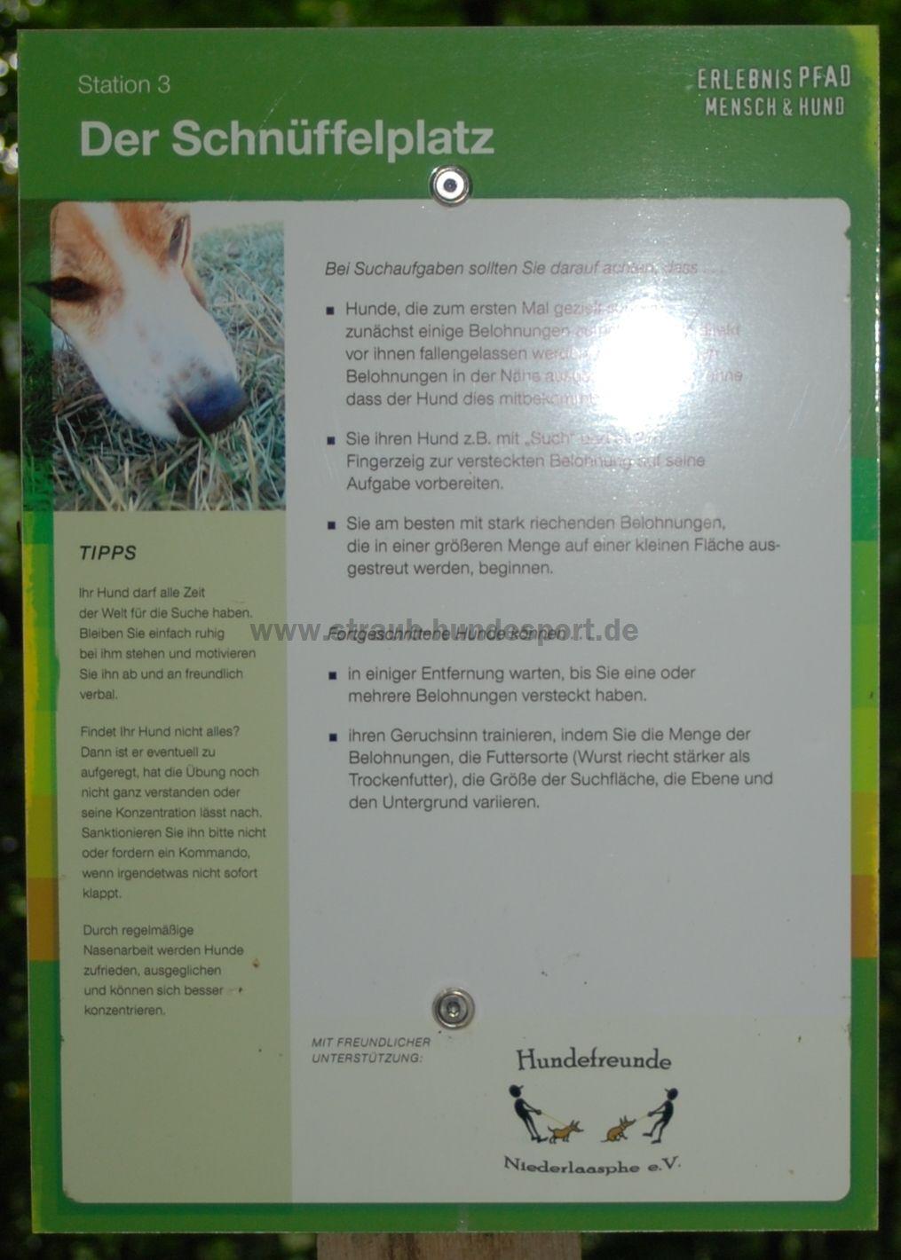 Hunderlebnispfad Station3