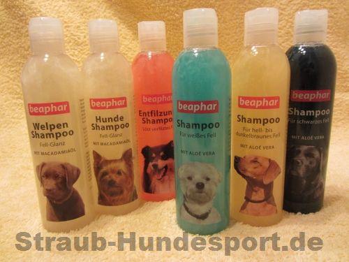 Diverse Hundeshampoos von Beaphar vertreiben wir demnächst in unserem Onlineshop.