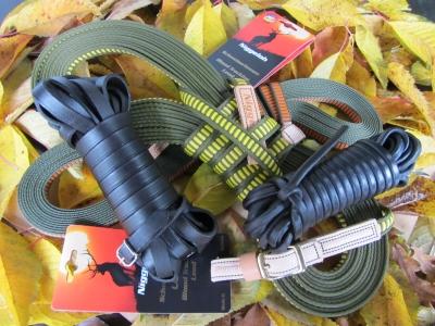 Schweißleinen aus Leder oder Hightech-Faser