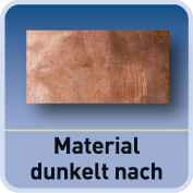 Material wird dunkler